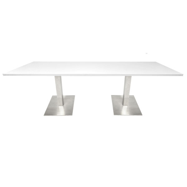 Double Piazza Bistro Table -  White