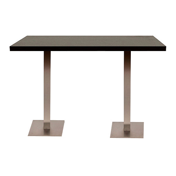 Double Piazza High Table - Black