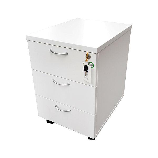 Pedestal Drawer Unit - White