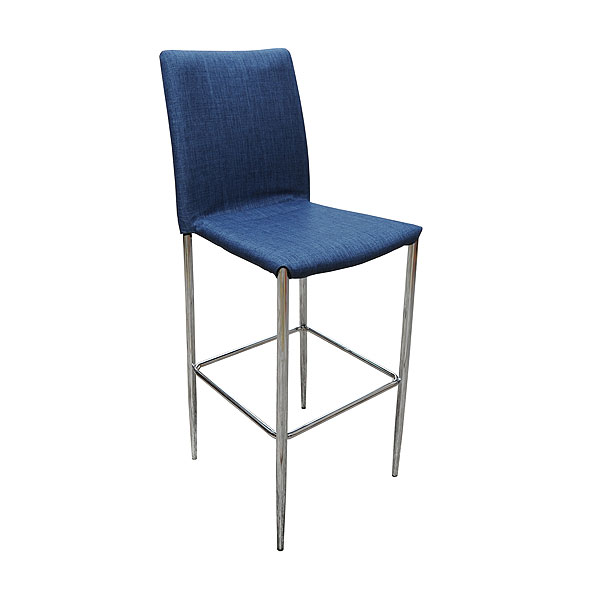 Rio Stool - Blue Fabric