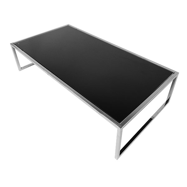 Rectangular Genoa Coffee Table - Black Glass