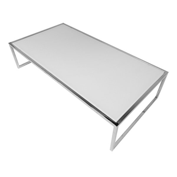 Rectangular Genoa Coffee Table - White Glass