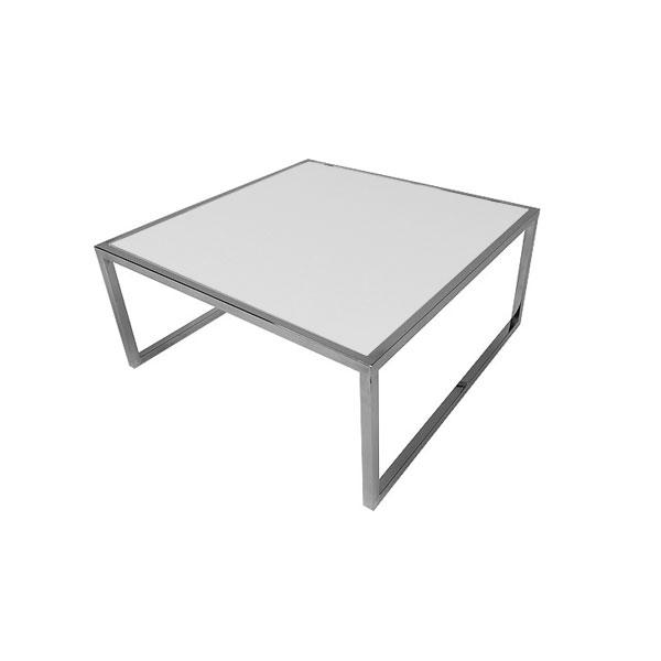 Square Genoa Coffee Table - White Glass