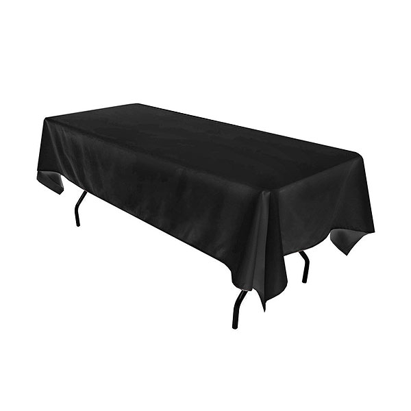 6ft Trestle Table With Black Cloth