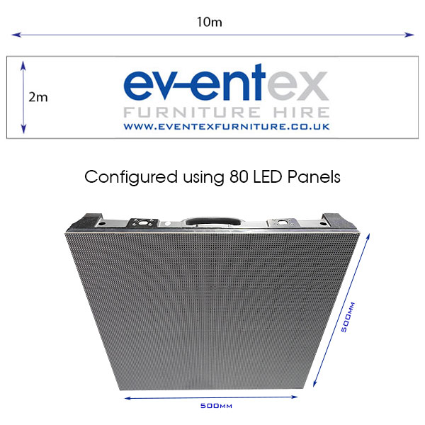 10m x 2m LED Screen