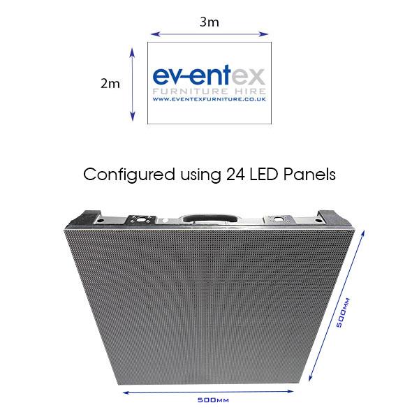 3m x 2m LED Screen