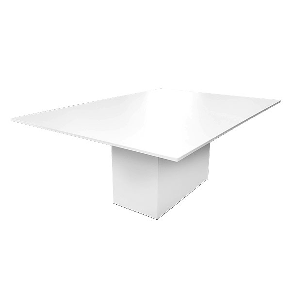 Rectangular Meeting Table - Crystal White