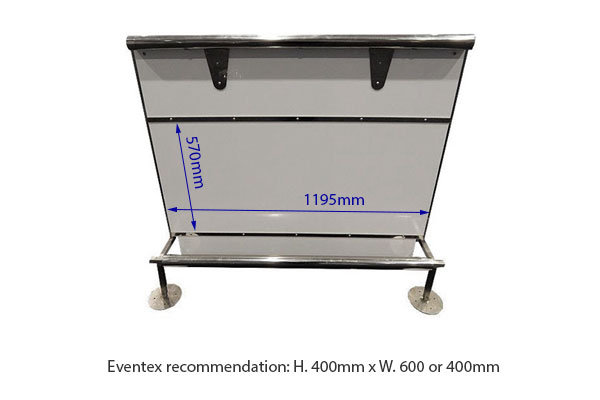 Straight Zip Bar Counter Hire