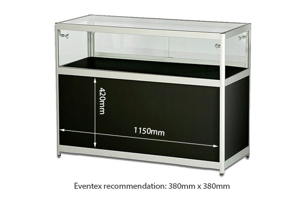 Low Showcase With Cabinet Hire